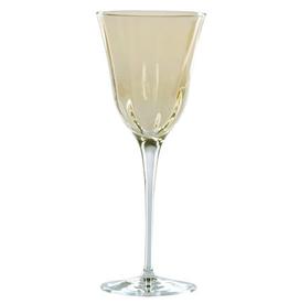 Vietri Optical Water Stem Glass - Amber - Discontinued