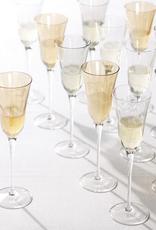 Vietri Optical Champagne Glass - Clear