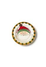 Vietri Old St. Nick Round Salad Plate - Green Hat