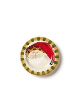 Vietri Old St. Nick Round Salad Plate - Animal Hat
