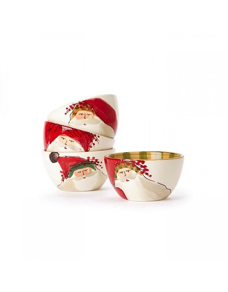 Vietri Old St. Nick Cereal Bowl - Red Hat