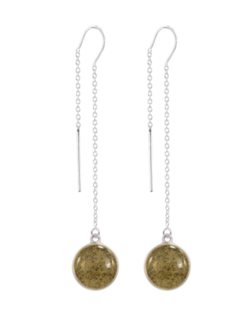 Dune Jewelry Sandglobe Long Earrings - St. Thomas USVI