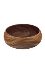 """Round Acacia Wood Bowl  - 14""""D"""
