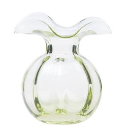 Vietri Green Hibiscus Glass Bud Vase