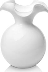 Vietri White Hibiscus Glass Bud Vase