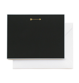Sugar Paper Black and Gold Arrow Note Card Set