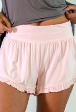Bamboo Ruffle Shorts - Pink - Large