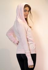 Bamboo Crossover Hoodie - Pink - Medium