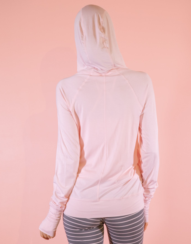 Bamboo Crossover Hoodie - Pink - Large