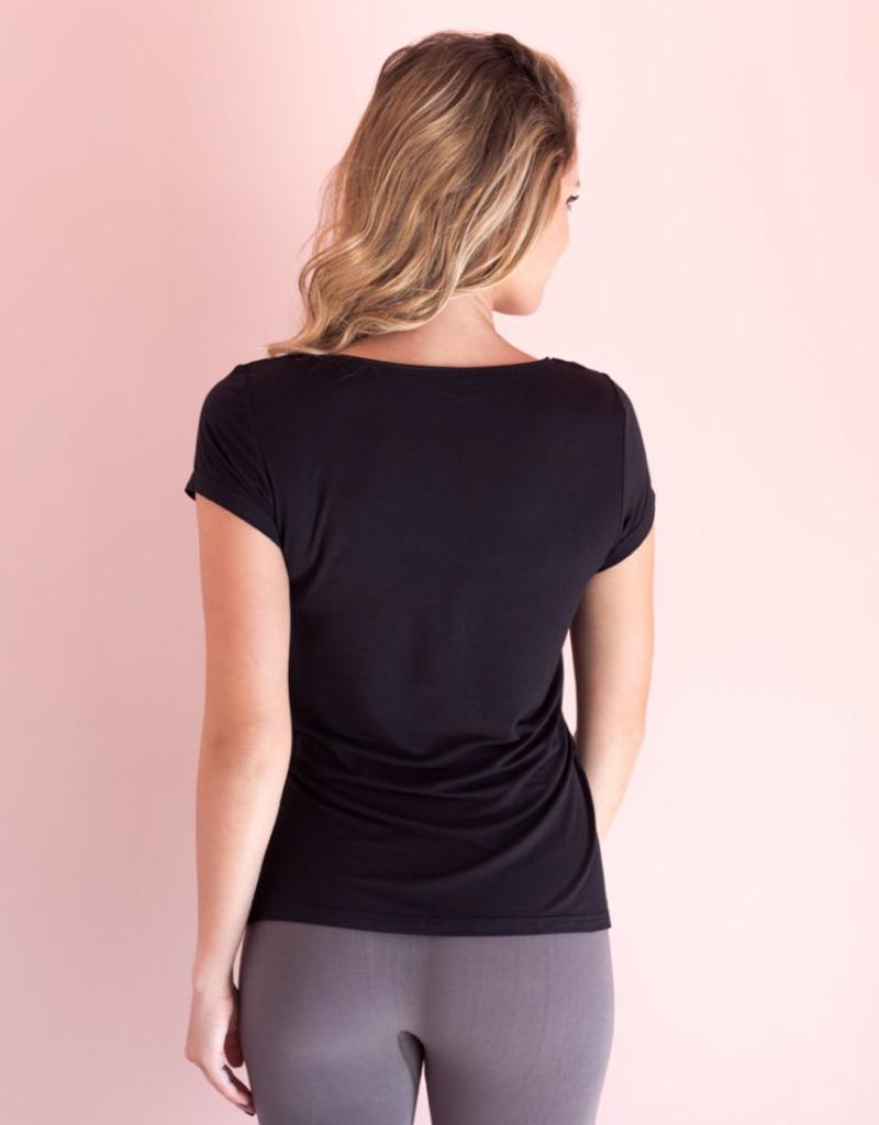Black Bamboo Short Sleeve Shirt - Large