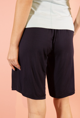 Black Bamboo Bermuda Lounge Shorts - Small