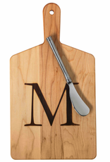 Initial Maple Cheese Board w/ Spreader-S