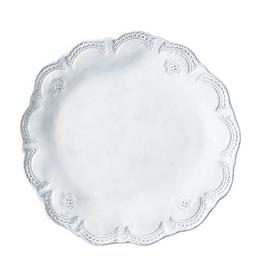 Vietri Incanto Lace Dinner Plate  - White