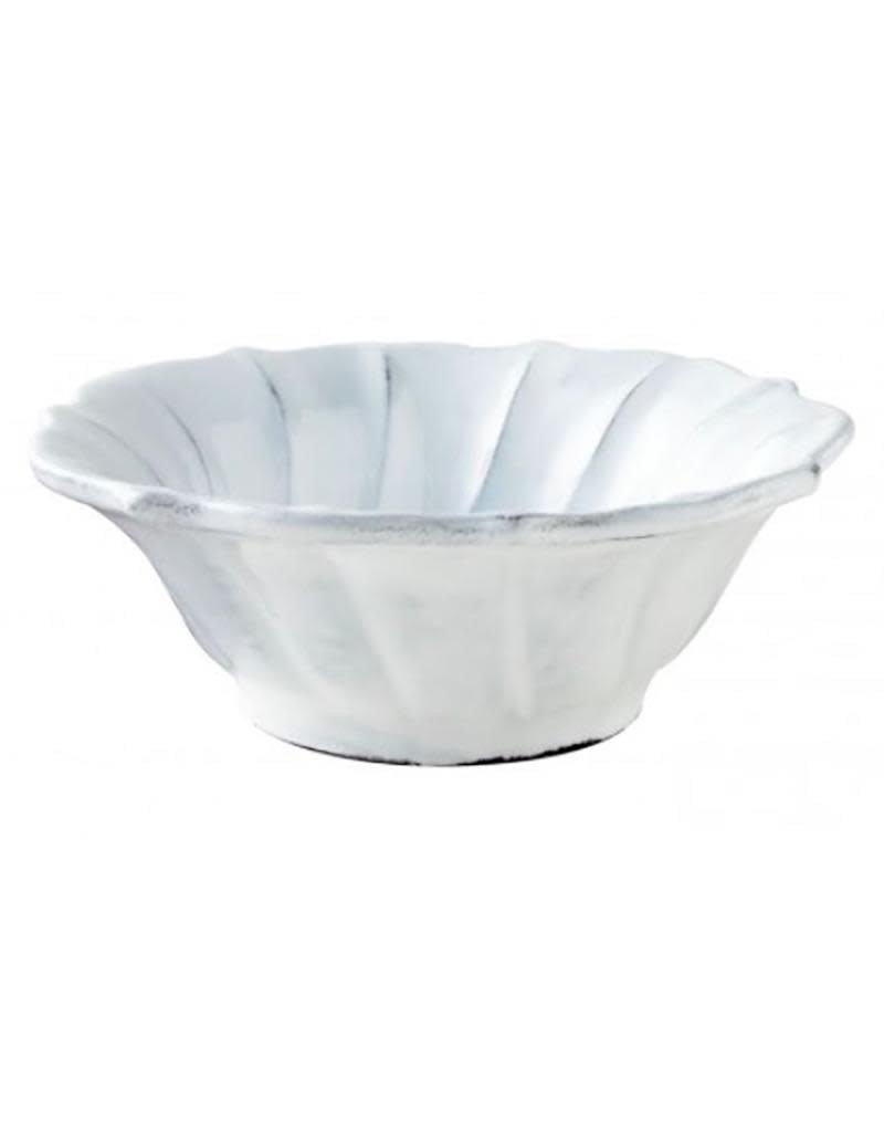 Vietri Incanto Ruffle Cereal Bowl - White