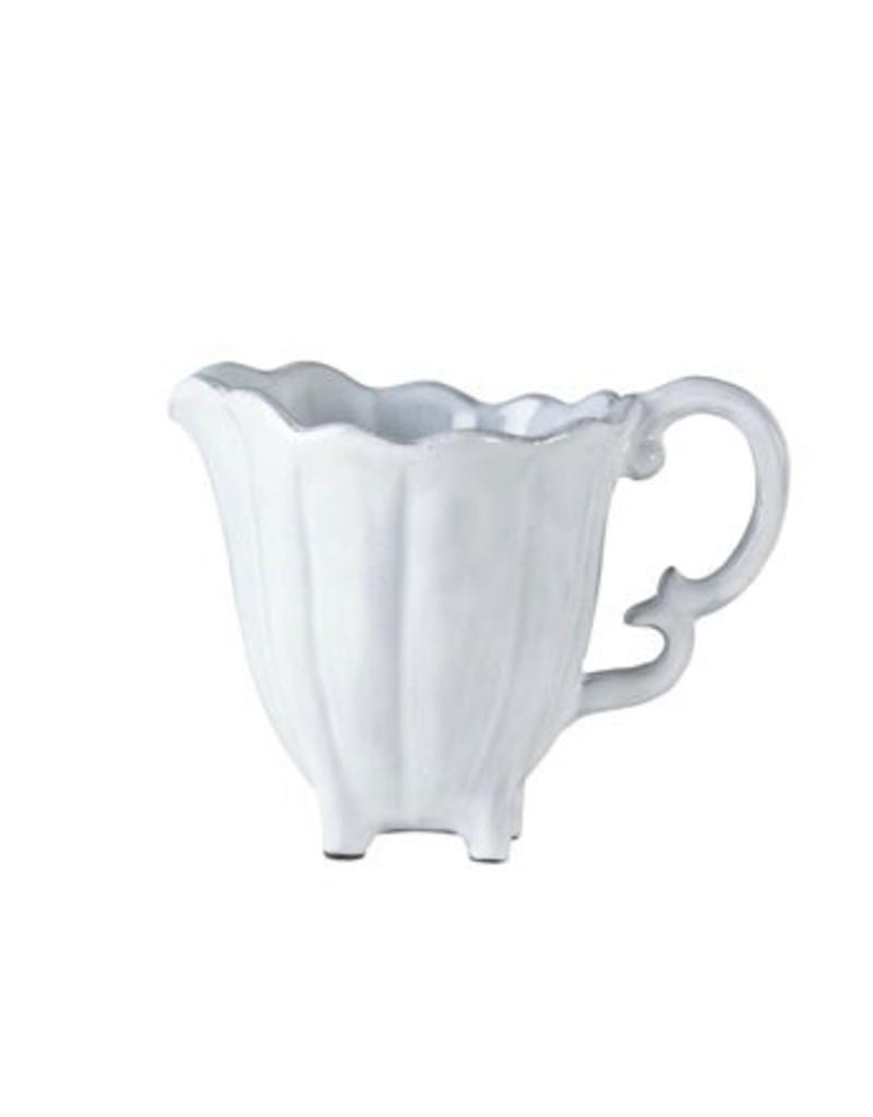 Vietri Incanto White Scallop Creamer - White