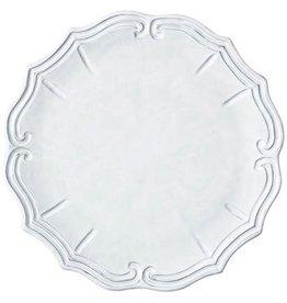 Vietri Incanto Baroque Service Plate/Charger - White