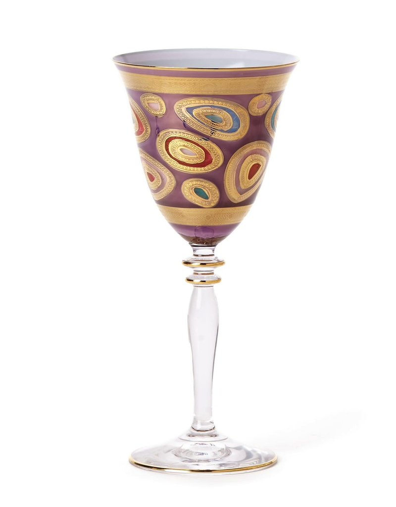 Vietri Regalia Wine Glass - Purple