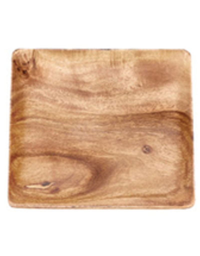 """Square Wooden Plate / Charger/ Tray - 12""""S"""