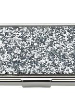 kate spade for Lenox kate spade Simply Sparkling Silver Glitter Card Holder
