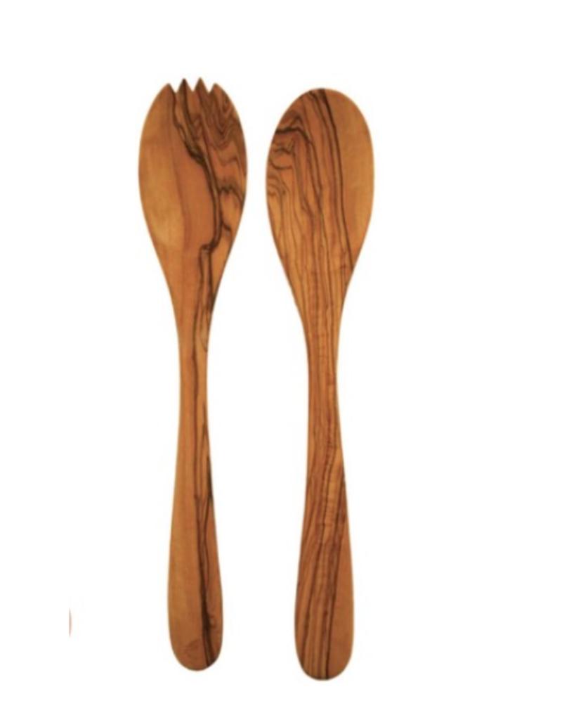 Olive Wood Long Serving Set