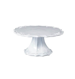 Vietri Incanto Baroque Small Cake Stand - White - Discontinued