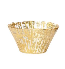 Vietri Rufolo Glass Gold Small Deep Bowl