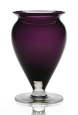 "William Yeoward Crystal Amethyst Vase - 6"""