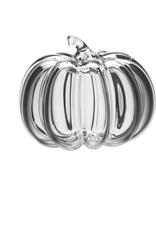 Simon Pearce Glass Pumpkin with Straight Stem - Medium
