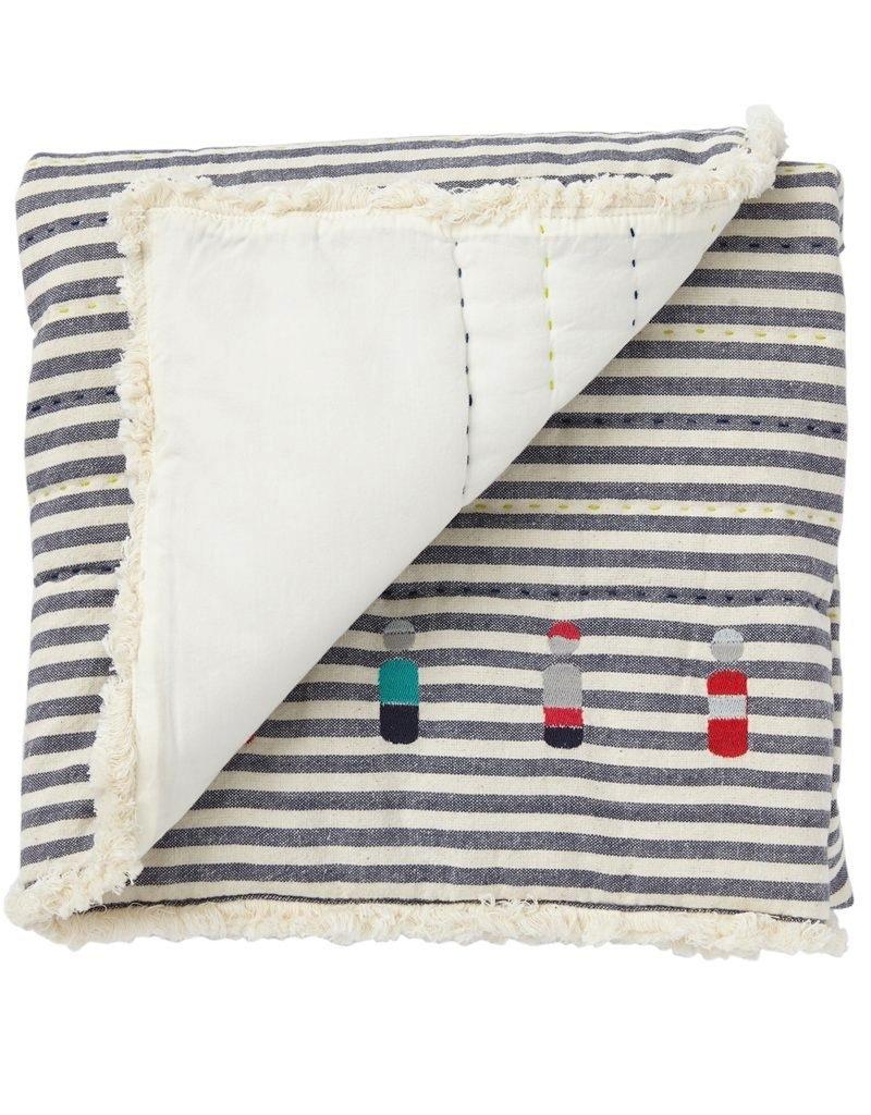 Little Peeps Quilted Nursery Blanket - Blue