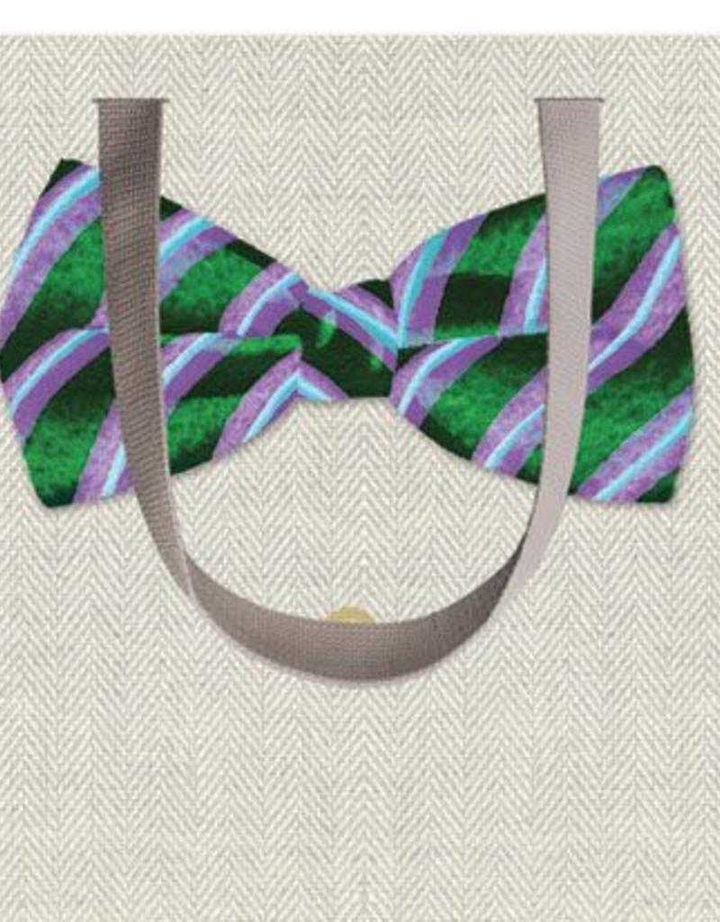 Caspari Bow Tie Wine Gift Bag