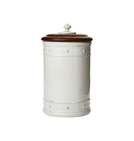 Juliska Berry and Thread 10'' Canister with Wooden Lid - Whitewash