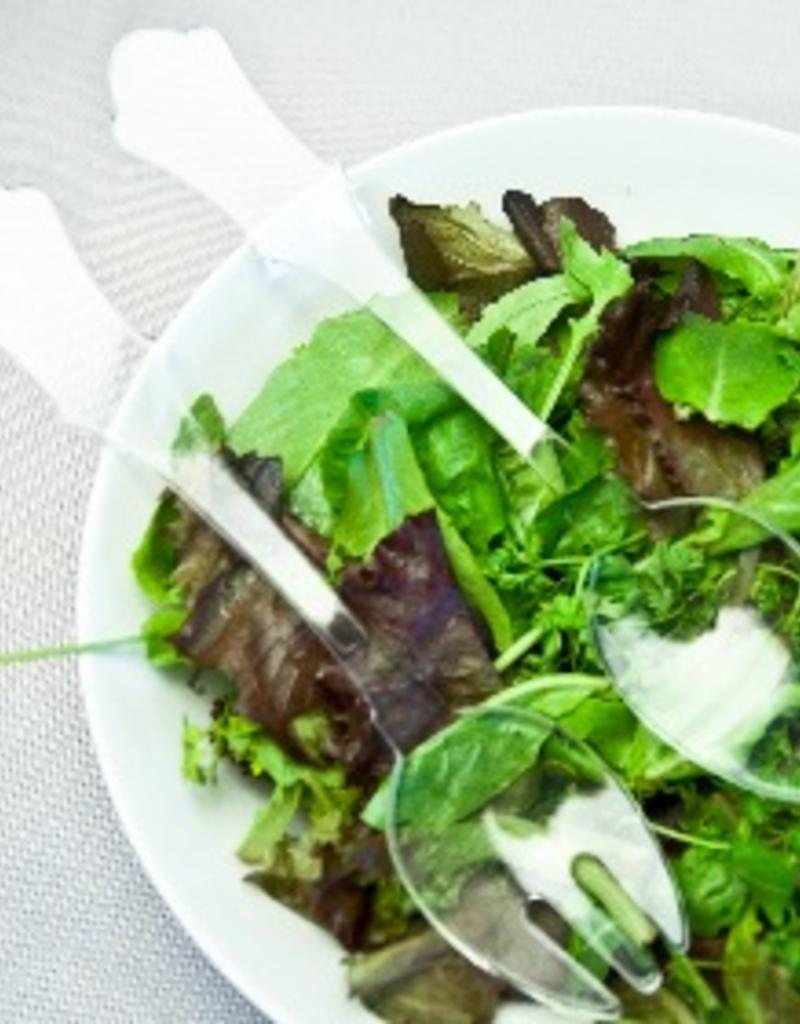 "Sabre Paris Acrylic Salad Serving Set -  Clear - 10.25""L"