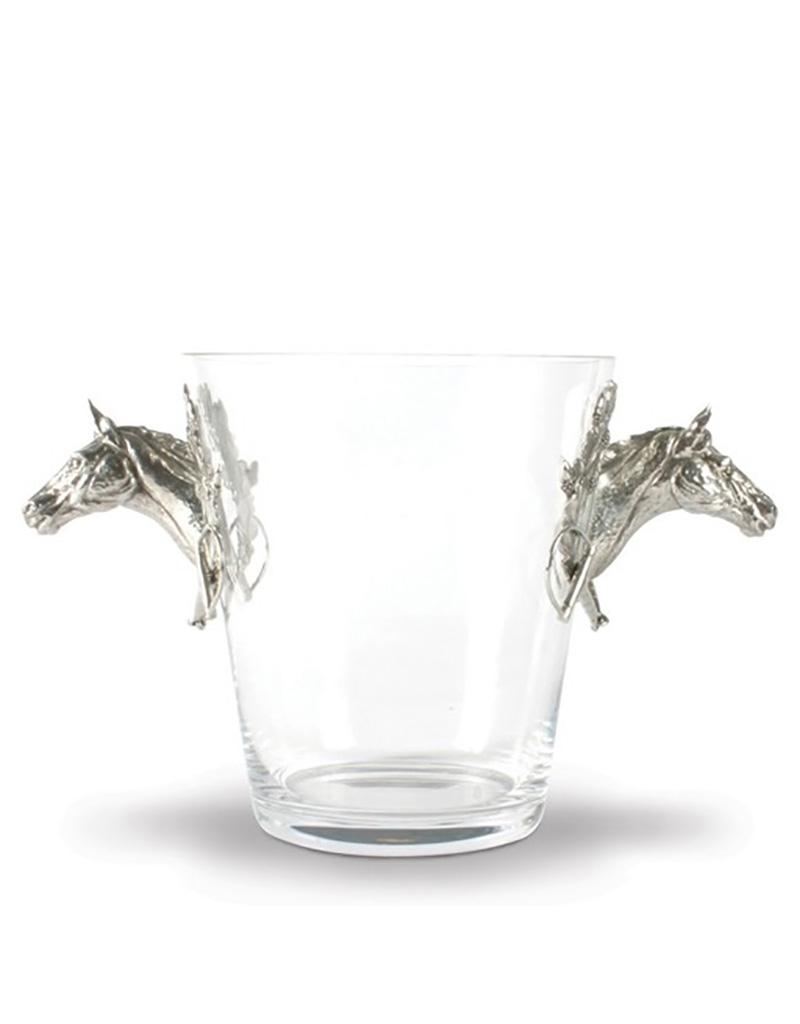 Vagabond House Horse Head Glass Ice Bucket