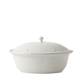 Juliska Berry and Thread Oval Covered Casserole - Whitewash - Discontinued