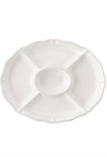 Juliska Berry and Thread Crudite Platter - Whitewash