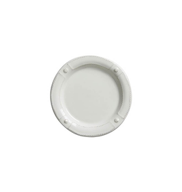 Juliska Berry and Thread French Panel Side/Cocktail Plate - Whitewash - Discontinued