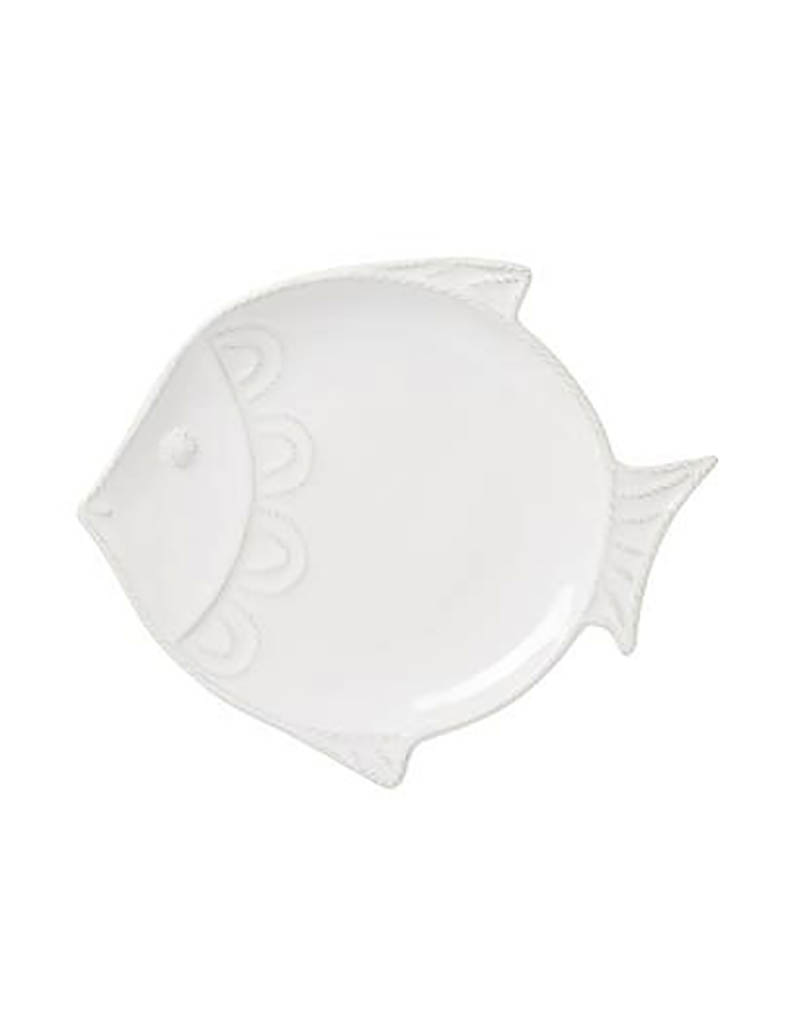 Juliska Berry and Thread Sea Life Fish Dessert/Salad Plate - Whitewash