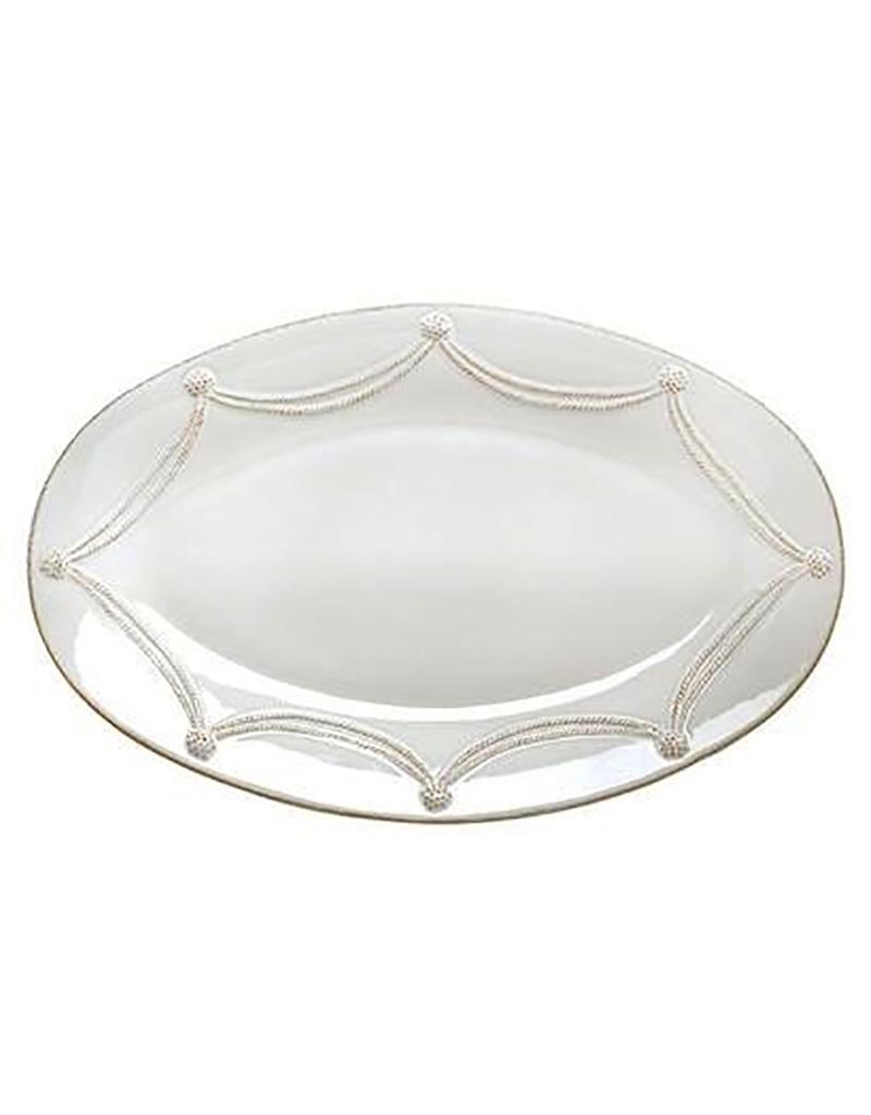 Juliska Berry and Thread Large Oval Platter - Whitewash