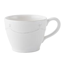 "Juliska Berry and Thread Tea/Coffee Cup - Whitewash - 3""H"