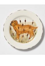 Vietri Wildlife Hunting Dog Salad Plate