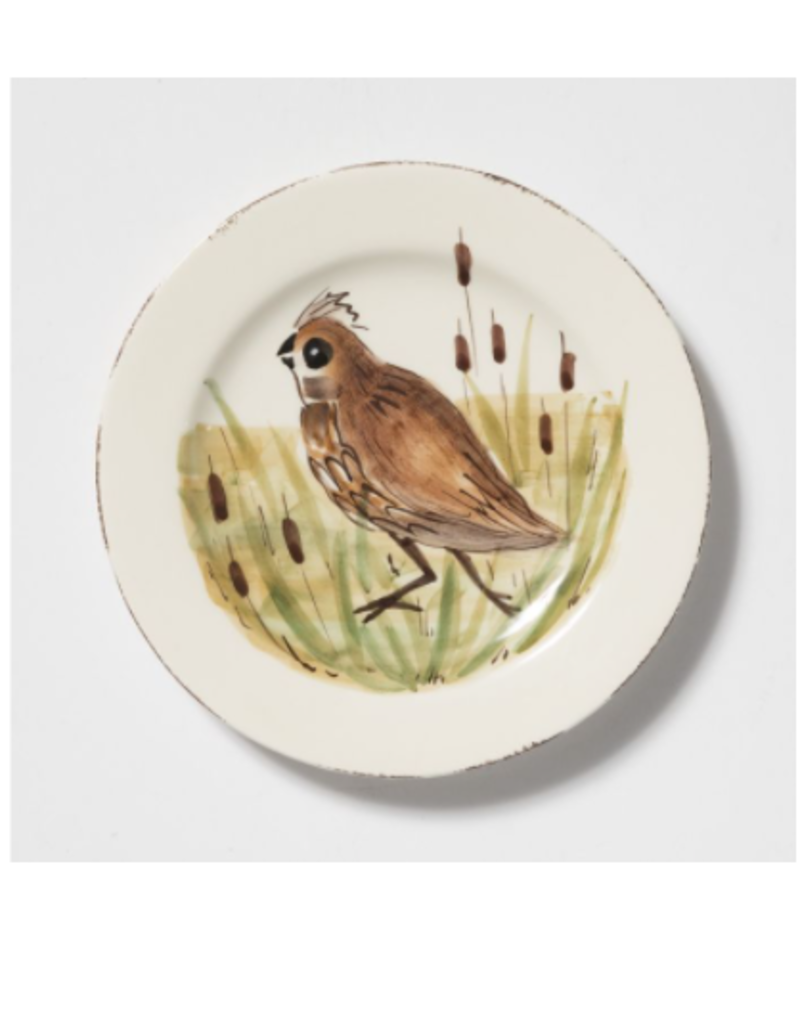 Vietri Wildlife Quail Salad Plate