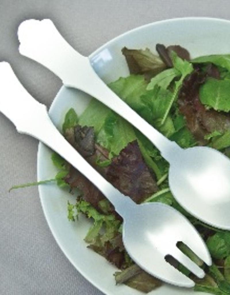 Sabre Paris Acrylic Salad Serving Set - White