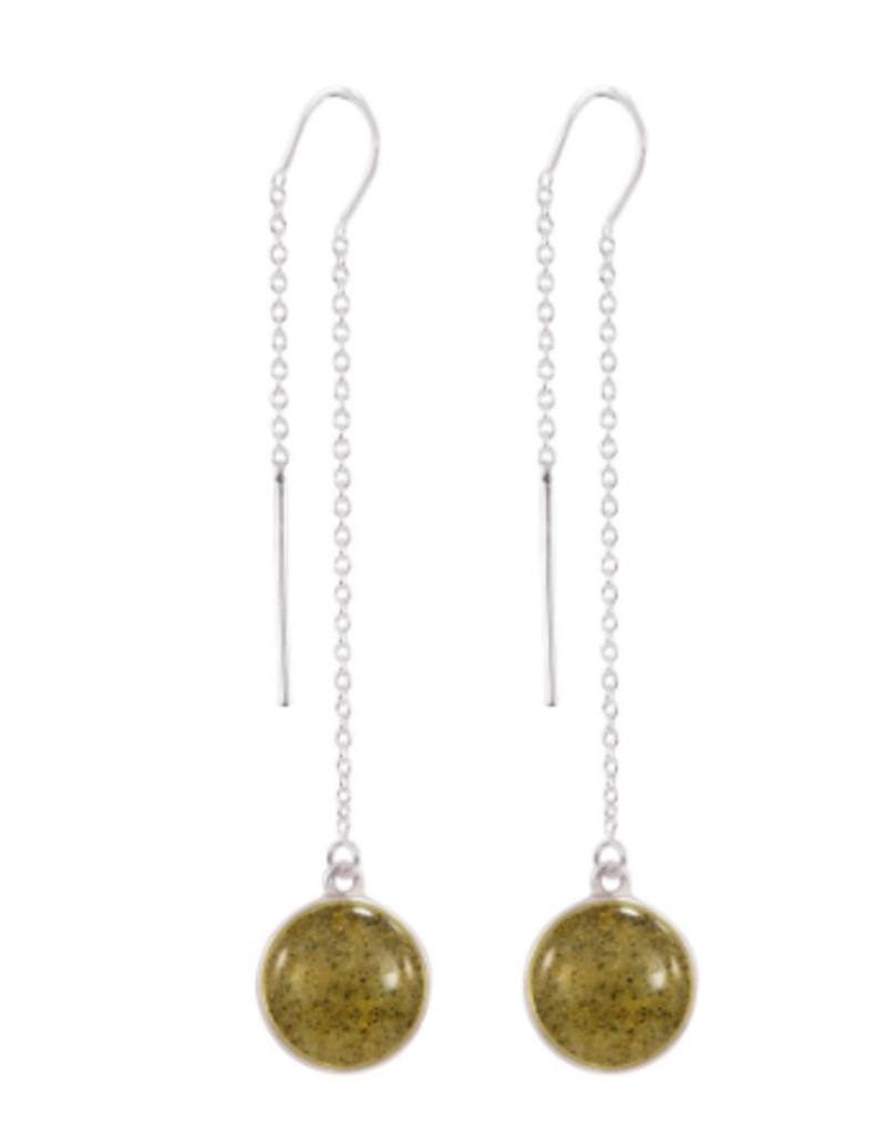 Dune Jewelry Sandglobe Long Earrings - Bora Bora