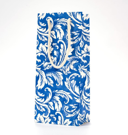 China Blue Acanthus Wine Bag
