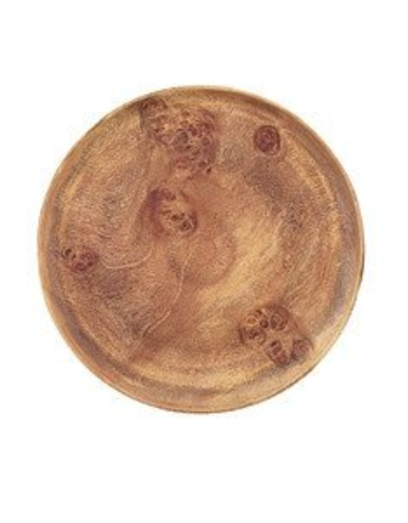 """Round Acacia Wood Plate - 12""""D"""