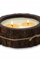 Himalayan Trading Post Tree Bark Candle Campfire - Medium