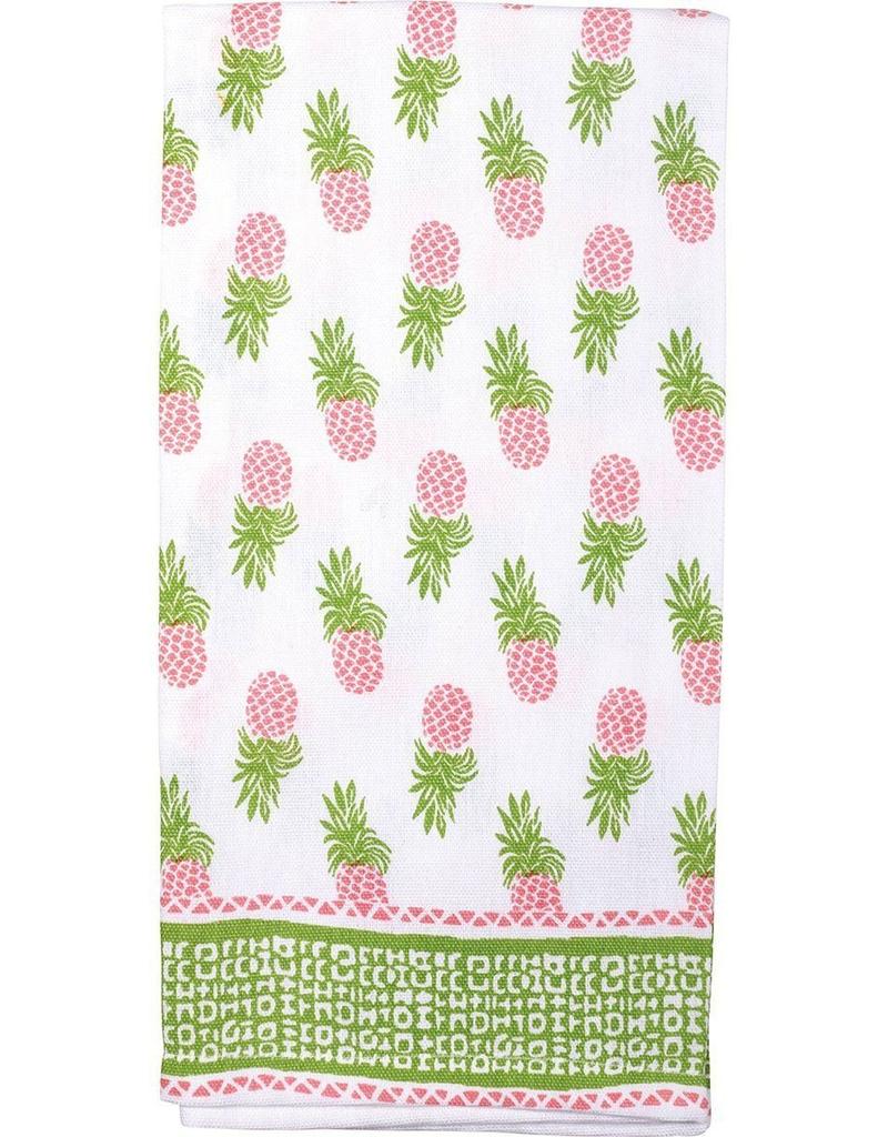 Pineapples Pink Kitchen Towel