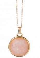 Spartina 449, LLC Round Locket Necklace - Rose Quartz