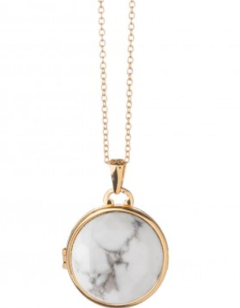 Spartina 449 Round Locket Necklace - Howlite