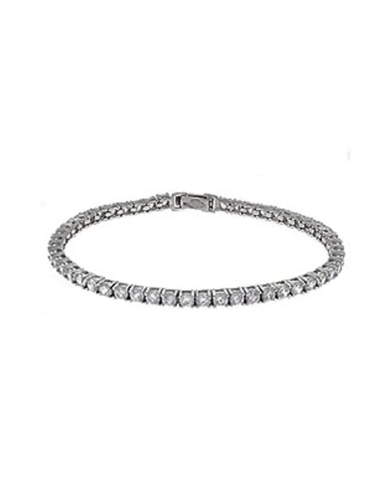 Crislu Classic Large Round Brilliant Tennis Bracelet - 10 cttw